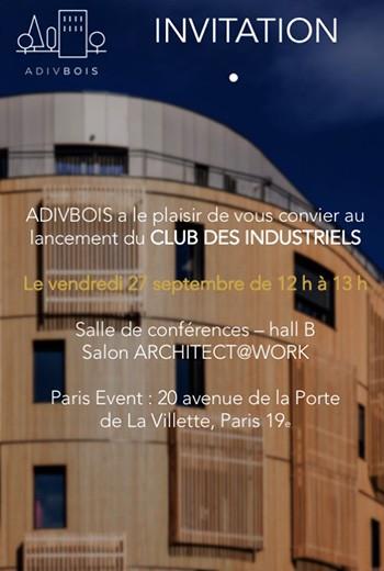 INVITATION lancement du Club des industriels-12sept-2